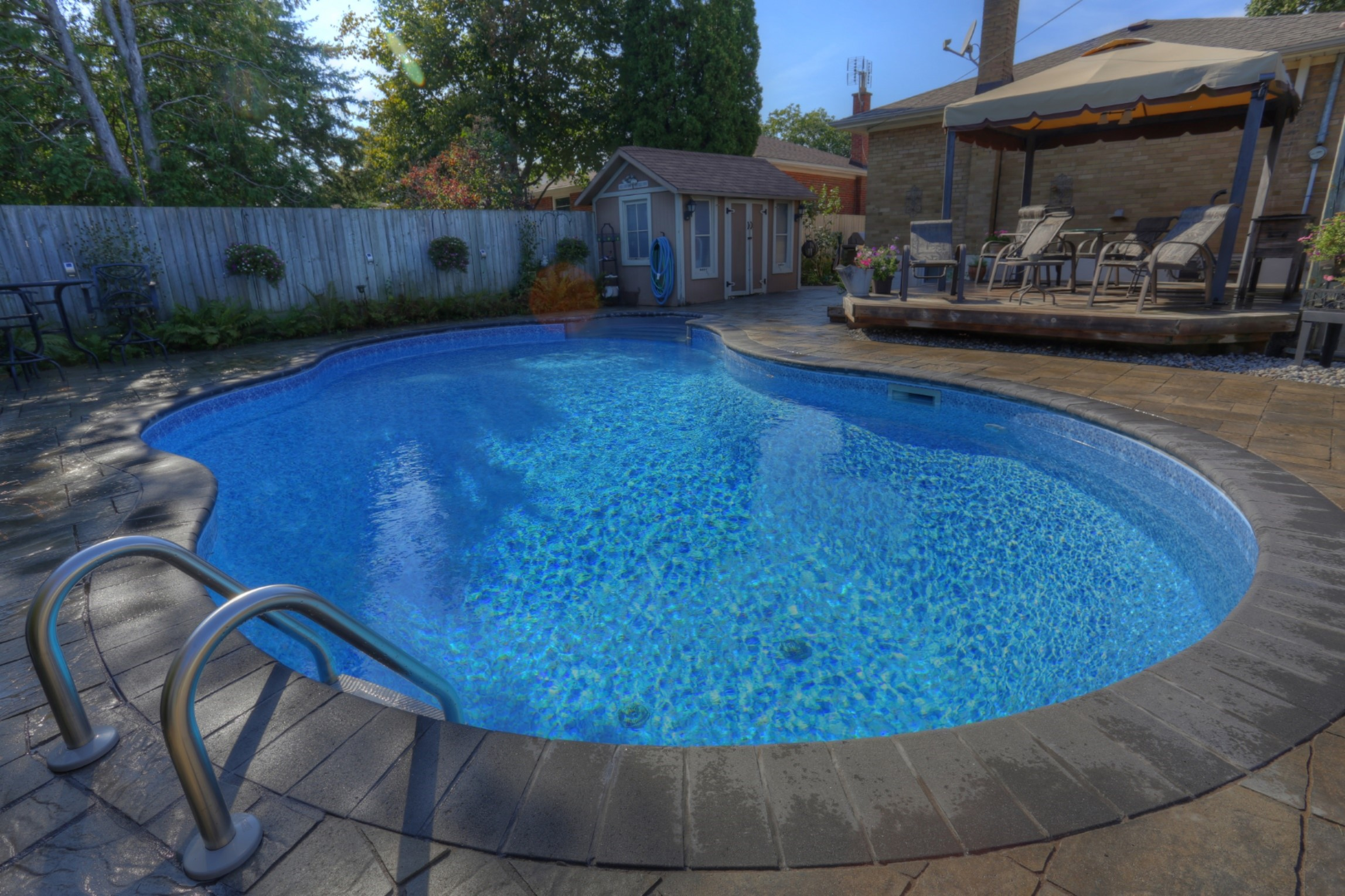 New construction mirage pool services for Swimming pool construction company