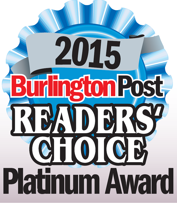2015 Platinum Award from Burlington Post Readers Choice